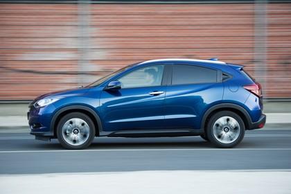 Honda HR-V RU Aussenansicht Seite dynamisch blau