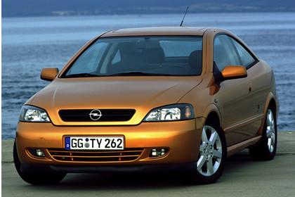Opel Astra G Coupe Aussenansicht Front statisch gold