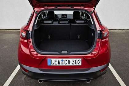 Mazda CX-3 DJ1 Aussenansicht Heck statisch Heckklappe geöffnet rot