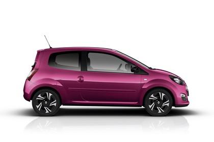 Renault Twingo N Facelift Dreitürer Aussenansicht Seite statisch Studio violett