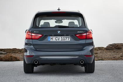 BMW 2er Gran Tourer Aussenansicht Heck statisch grau