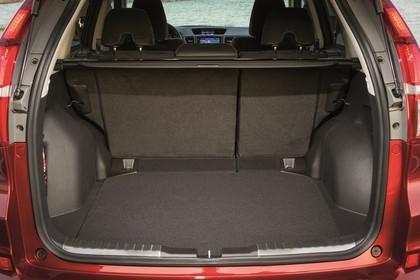 Honda CR-V RE Aussenansicht Heck statisch Heckklappe geöffnet rot