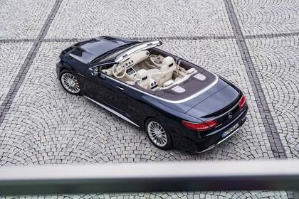 Mercedes-Benz S-Klasse Cabriolet A207 Aussenansicht Heck schräg erhöht statisch dunkelblau