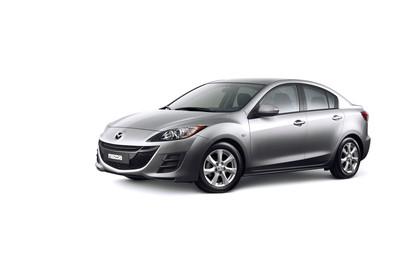 Mazda 3 Viertürer BL Innenansicht Beifahrerposition statisch schwarz