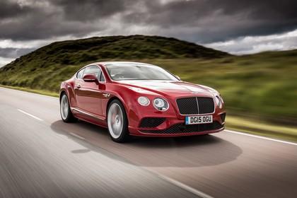 Bentley Continental GT Speed Aussenansicht Front schräg dynamisch rot