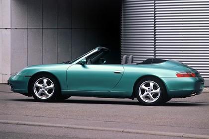 Porsche 911 (996) Cabrio Aussenansicht Seite statisch grün