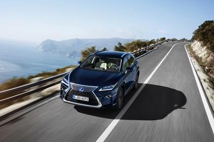 Lexus RX AL2 Aussenansicht Front schräg erhöht statisch dunkelblau