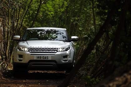 Land Rover Range Rover Evoque Coupé L538 Aussenansicht Front dynamisch silber