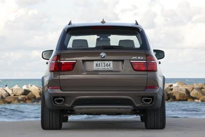 BMW X5 E70 LCI Aussenansicht Heck statisch braun