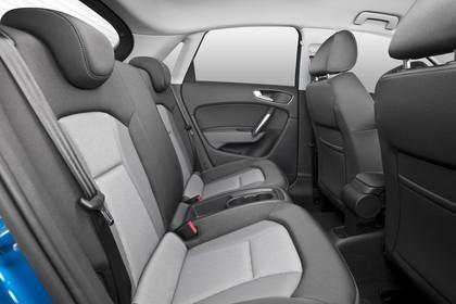 Audi A1 Sportback Innenansicht Rücksitzbank Studio statisch grau