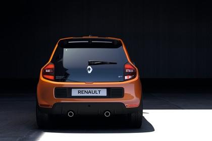 Renault Twingo III Aussenansicht Heck statisch orange