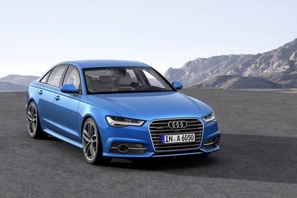 Audi A6 C7 Aussenansicht Front schräg statisch blau
