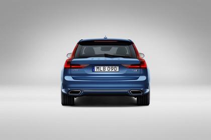 Volvo V90 P Aussenansicht Heck statisch Studio blau