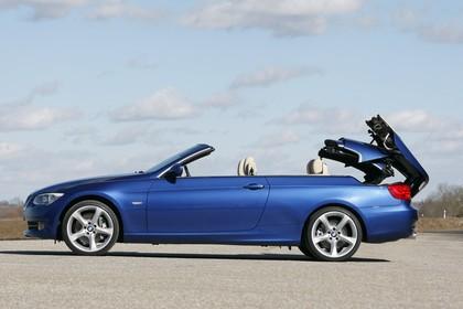 BMW 3er Cabriolet LCI Aussenansicht Seite statisch blau