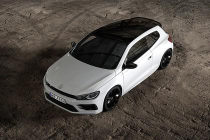 VW Scirocco R Typ 13 Aussenansicht Front schräg erhöht statisch weiss