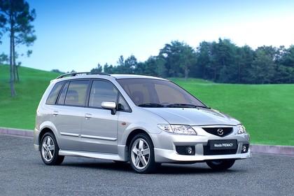 Mazda Premacy CP Aussenansicht Front schräg statisch silber