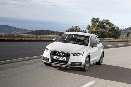 Audi A1 Aussenansicht Front schräg dynamisch weiss