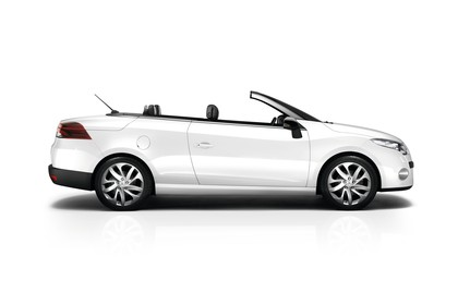 Renault Mégane CC Z Aussenansicht Seite statisch Studio weiss