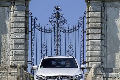 Mercedes GLC Coupe C253 Aussenansicht Front statisch weiss