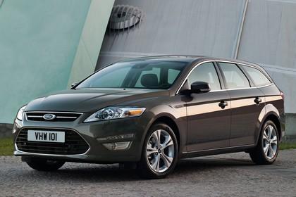 Ford Mondeo Turnier Mk4 Facelift Aussenansicht Front schräg statisch braun
