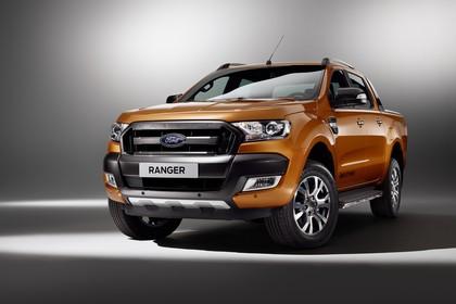 Ford Ranger 2AB Aussenansicht Front schräg statisch Studio blau
