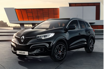 Renault Kadjar Aussenansicht Front schräg statisch schwarz