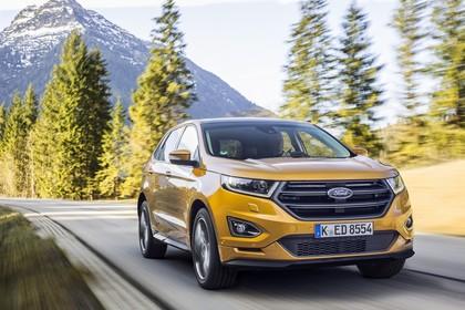 Ford Edge CD539X Front schräg dynamisch gelb