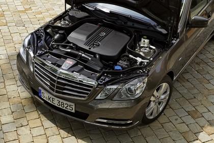 Mercedes E-Klasse T-Modell S212 Aussenansicht Detail Motor schräg statisch gold