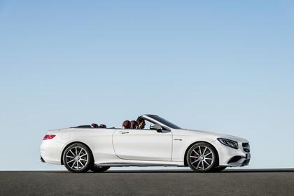 Mercedes-Benz S-Klasse Cabriolet A207 Aussenansicht Seite statisch weiss