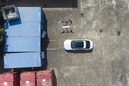 Jaguar XJ X351 Aussenansicht Draufsicht statisch weiss