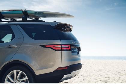 Land Rover Discovery LR Aussenansicht Detail statisch grau Heck