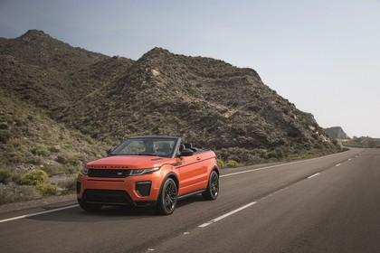 Land Rover Range Rover Evoque Cabrio L538 Aussenansicht Front schräg dynamisch orange
