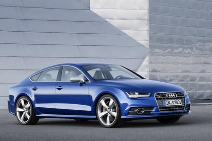 Audi S7 4G Aussenansicht Front schräg statisch blau