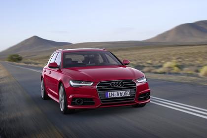 Audi A6 C7 Avant Aussenansicht Front dynamisch rot