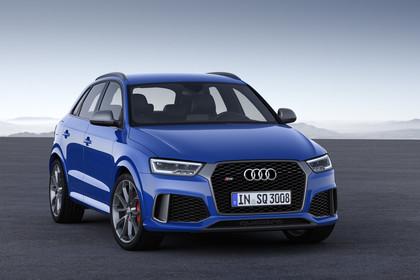 Audi RSQ3 8U Aussenansicht Front schräg statisch blau