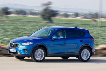 Mazda CX-5 KE Aussenansicht Seite schräg dynamisch blau