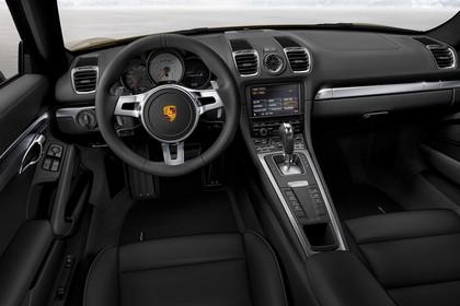 Porsche Cayman (981) Innenansicht Fahrerposition Studio statisch schwarz