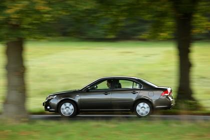 Kia Magentis MG Facelift Aussenansicht Seite dynamisch braun