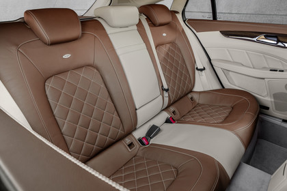 Mercedes-Benz CLS Shooting Brake X218 Innenansicht Rücksitzbank Studio statisch beige braun