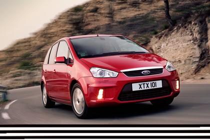 Ford C-Max Aussenansicht Front schräg dynamisch rot