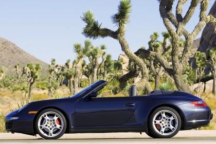 Porsche 911 Carrera Cabriolet 997.1 Aussenansicht Seite statisch dunkelblau