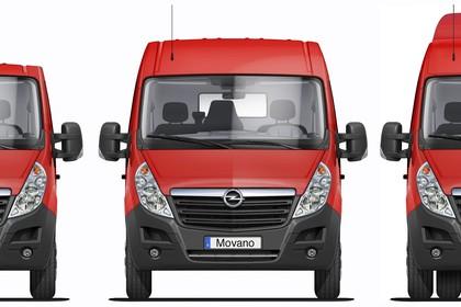 Opel Movano Aussenansicht Front statisch Studio rot