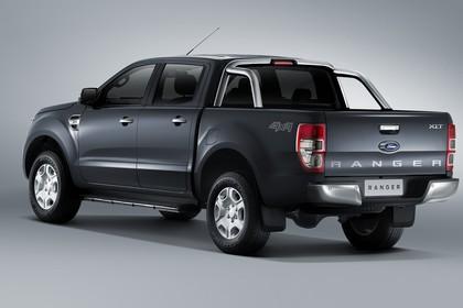Ford Ranger 2AB Aussenansicht Heck schräg statisch Studio grau