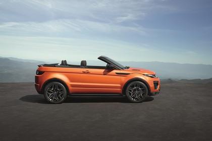 Land Rover Range Rover Evoque Cabrio L538 Aussenansicht Seite statisch orange