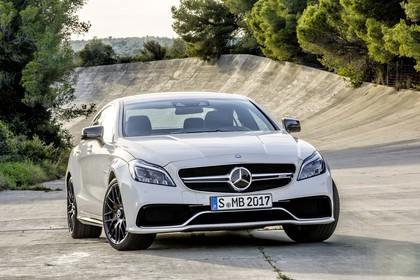 Mercedes-Benz CLS C218 CLS63 AMG Aussenansicht Front statisch weiss