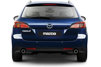 Mazda 6 Kombi GH Studio Aussenansicht Heck statisch blau