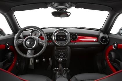 Mini Coupe R58 Studio Innenansicht Front statisch schwarz