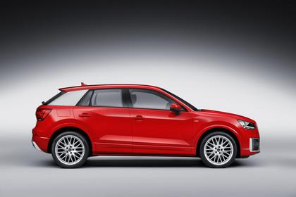 Audi Q2 Aussenansicht Seite Studio statisch rot