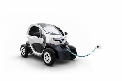 Renault Twizy Aussenansicht Front schräg statisch Studio weiss