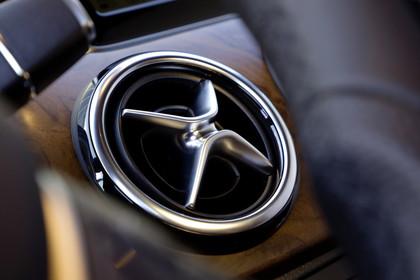 Mercedes B-Klasse W246 Innenansicht Detail Lüftungsdüse statisch silber